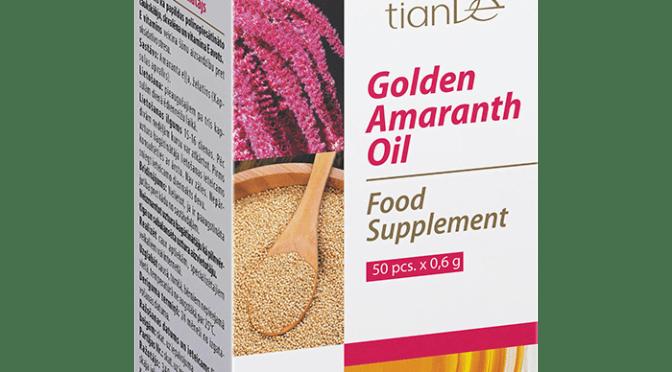 """135415 Complejo Funcional """"Golden Amaranth"""", , 50 Cáps. de 0.5 g, Amaranto Legendario Que le da Fuerza y Longevidad"""