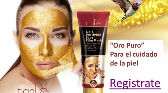 50116 Mascarilla Facial Limpiadora de Oro, TianDe 1